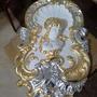Бывает же красота. Скульптура девушки - это готовая форма. Изготовлена из гипса, покрыта серебром и сусальным золотом.