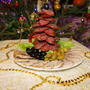 Закуски на новогоднем столе.  Мясная закуска