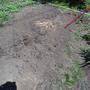 Дырка в земле и нечто, похожее на мочалку