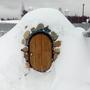 А ещё снег придаёт особый шарм погребу зимой))
