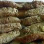 Мясные пальчики, фаршированные грибами и сыром
