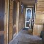 Дверь в туалет внутри дома