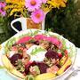Салат с копченой скумбрией