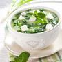 Холодный суп со шпинатом и брынзой