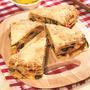 Лазанья из блинчиков с начинкой из шпината и маринованного перца