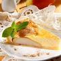 Грушевый пирог с творожной заливкой