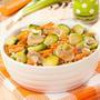 Салат из брюссельской капусты с шампиньонами