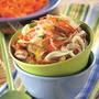 Салат из рисовой лапши с грибами и овощами