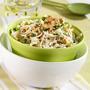 Салат из капусты с солеными огурцами и грецкими орехами