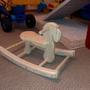 Утром дед сделал лошадку-качалку Внуку!!!