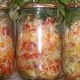Заготовка зимнего салата из капусты с помидорами