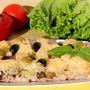 Запеканка с грибами и ананасами