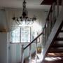 На веранде с южной стены установили лестницу в мансарду по моему проекту.