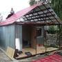 Постройка веранды и крыша.