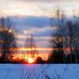 И  солнце, будто капля янтаря, в холодном небе января