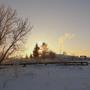утро за околицей села