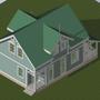 Проект дома, как его видел архитектор.  Вид 1.