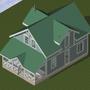 Проект дома, как его видел архитектор. <br/> Вид 1.