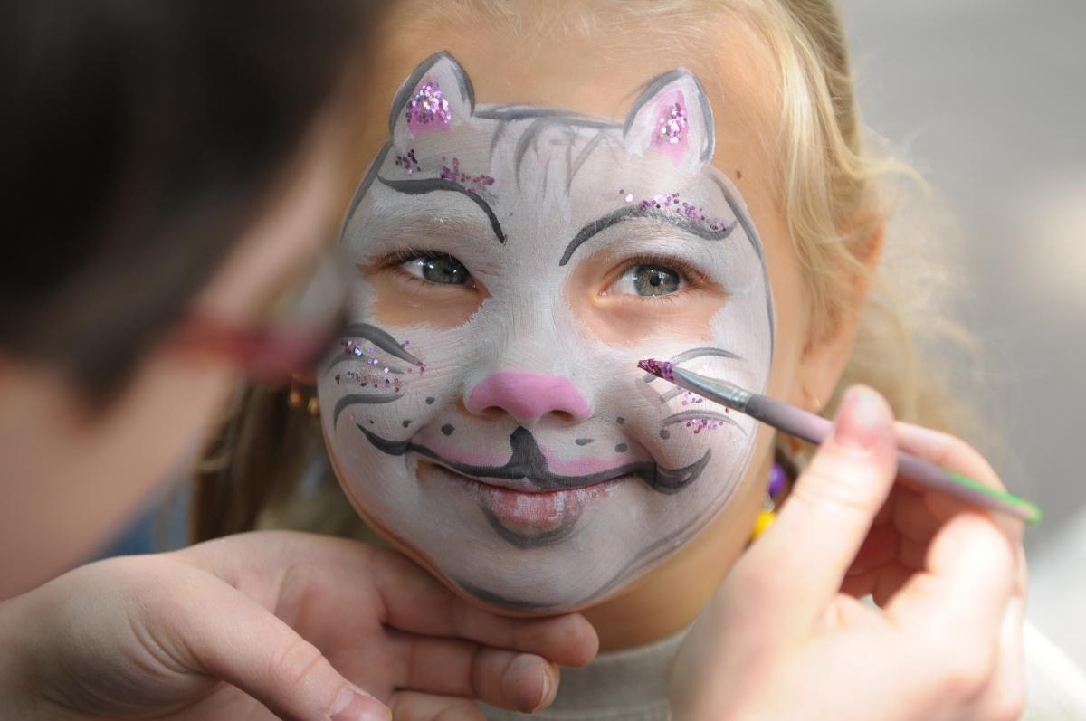 Как сделать нарисовать кошку на лице