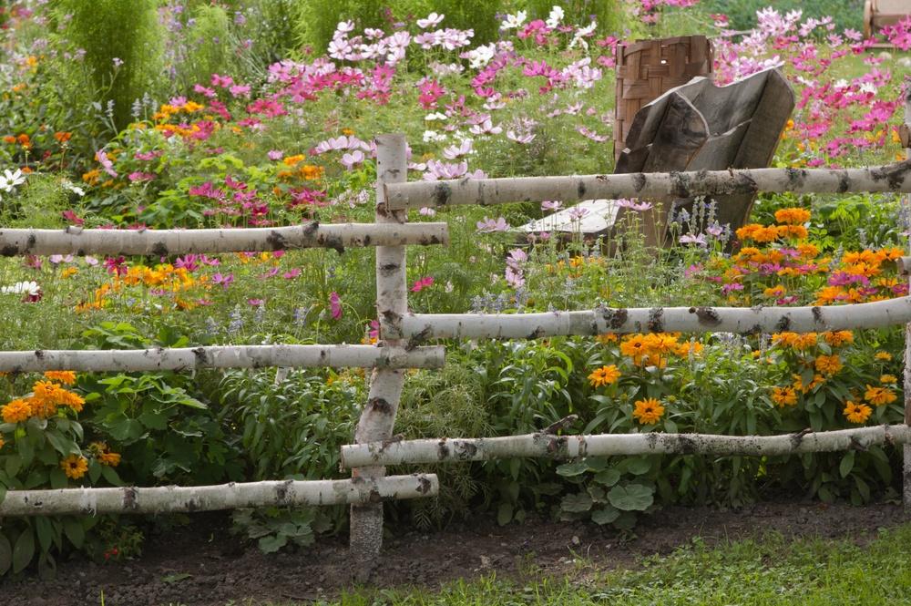 Заборы в саду