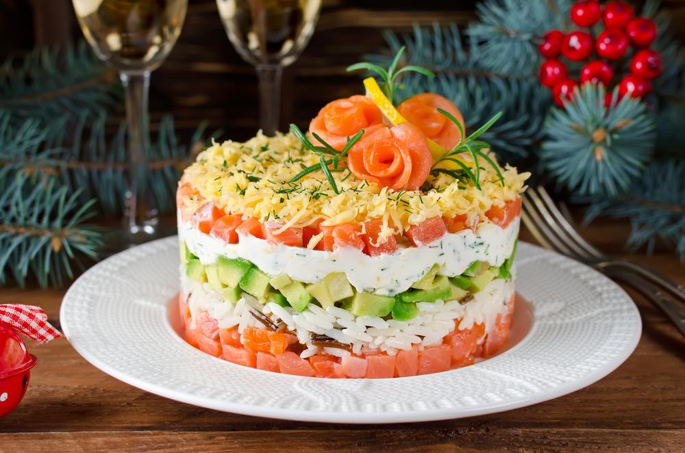 Фото различных салатов