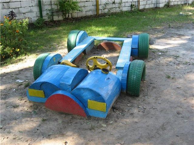 Как сделать машину на детской площадке своими руками