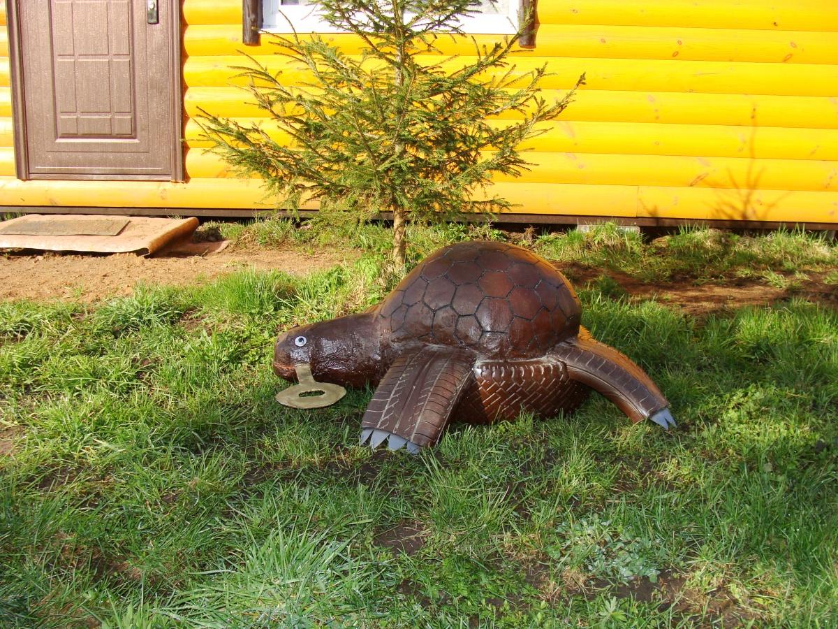 Черепаха в саду своими руками фото оригинальные идеи