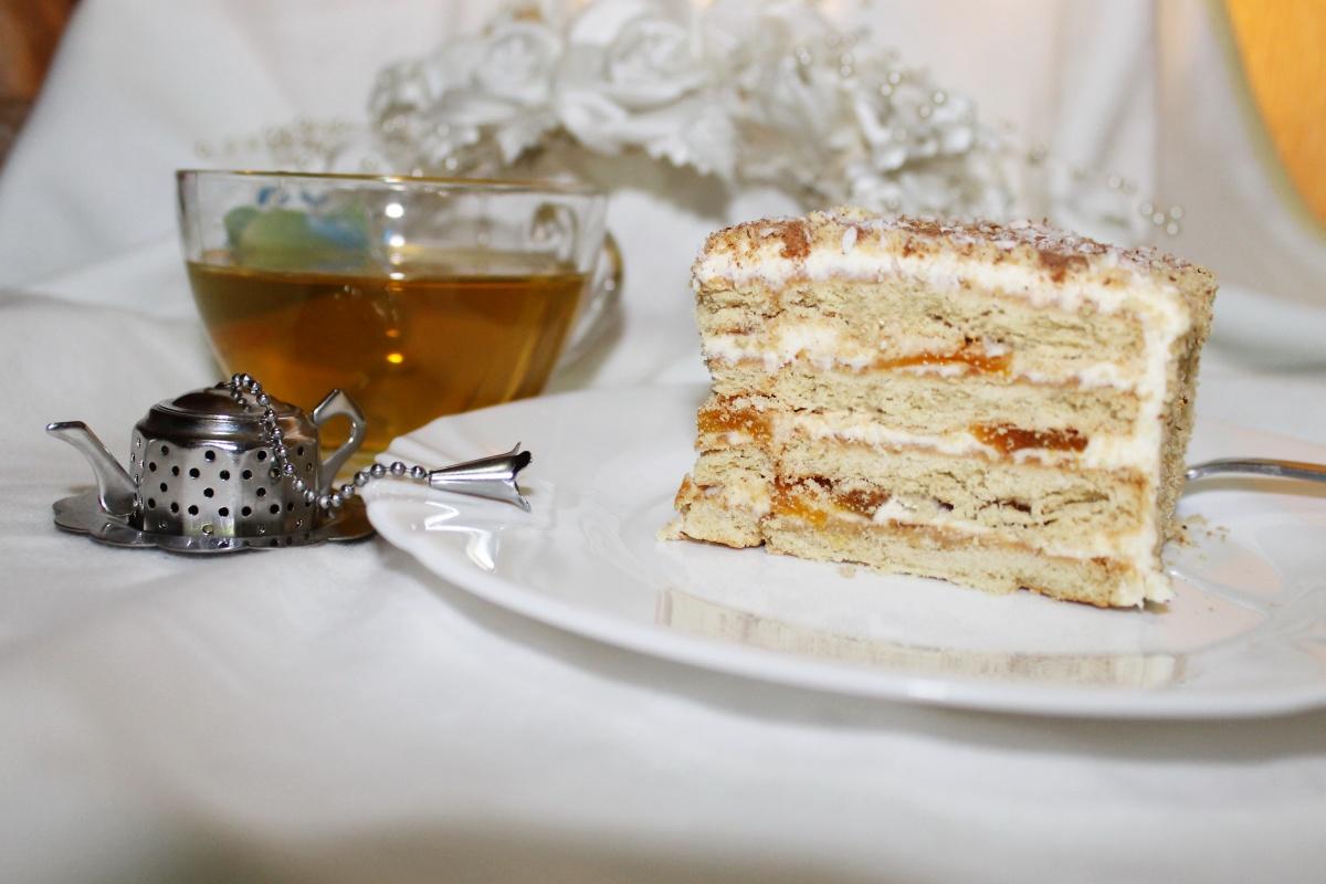 самый простой торт из печенья рецепт