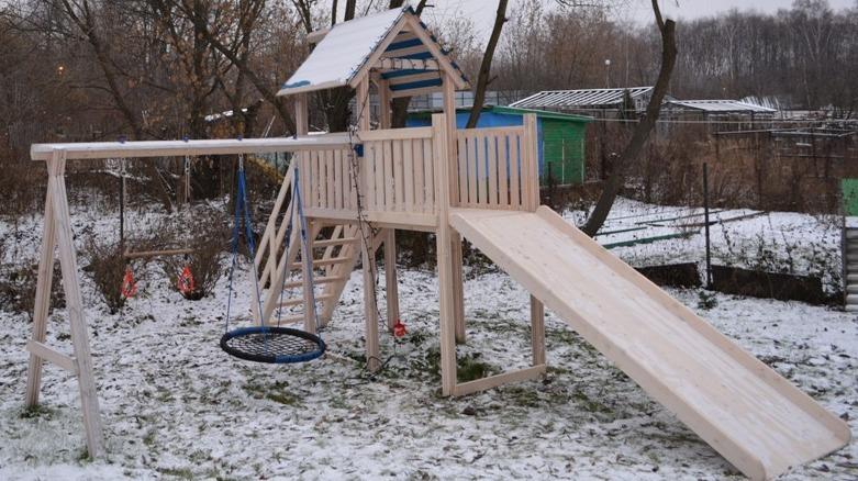 Как сделать горку из снега своими руками для детей