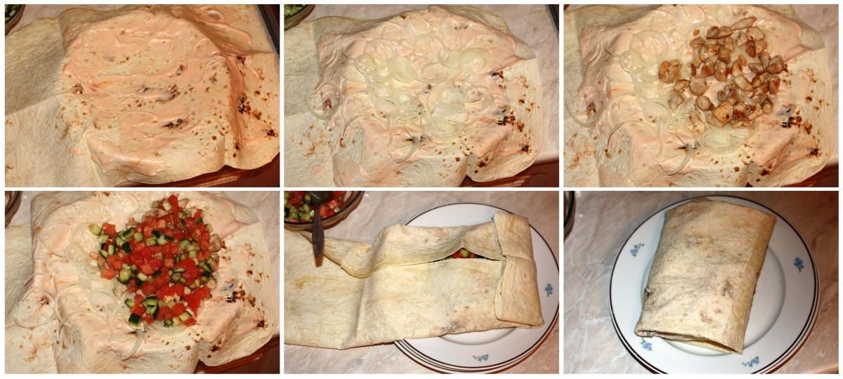 Как дома сделать шаурму рецепт с фото
