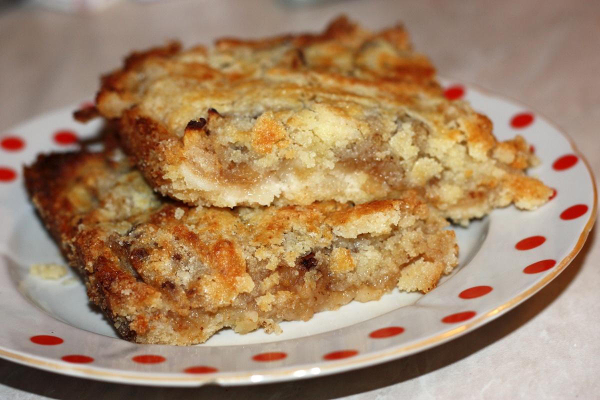 Пирог из сушеных яблок рецепт с