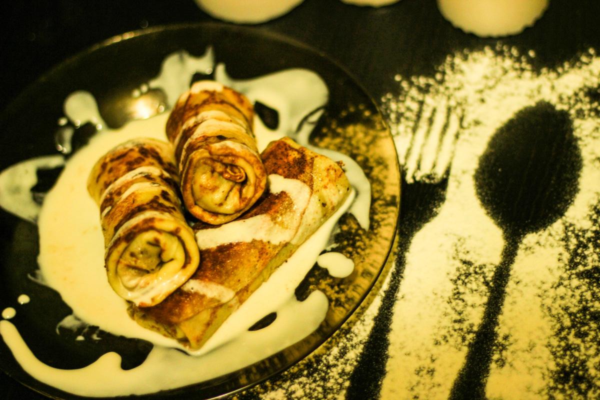 Замороженные блины с начинкой как приготовить