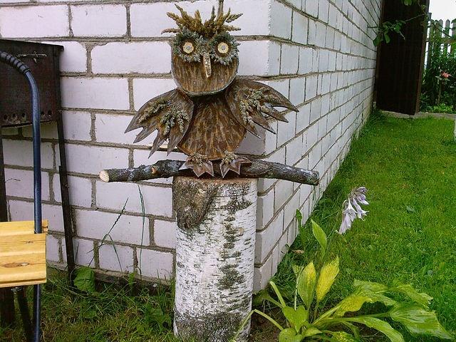 Из дерева на даче поделки из 25