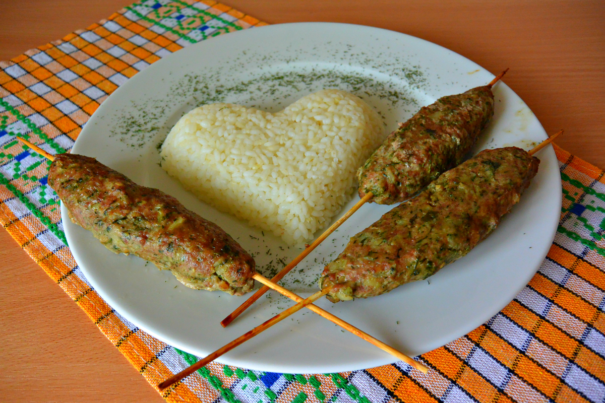 Рецепт люля из индейки в духовке с фото