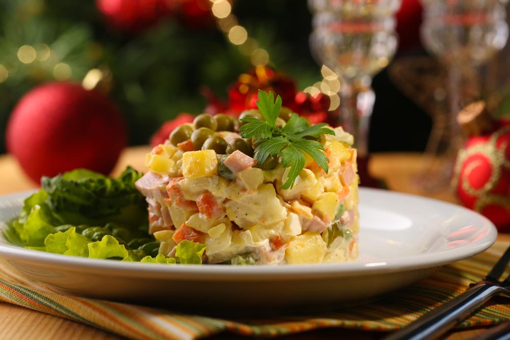 Популярные салаты в новом году