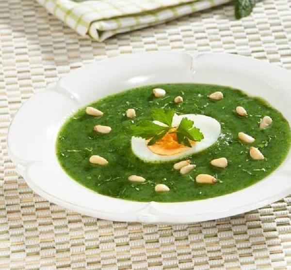суп из замороженного щавеля с яйцом рецепт
