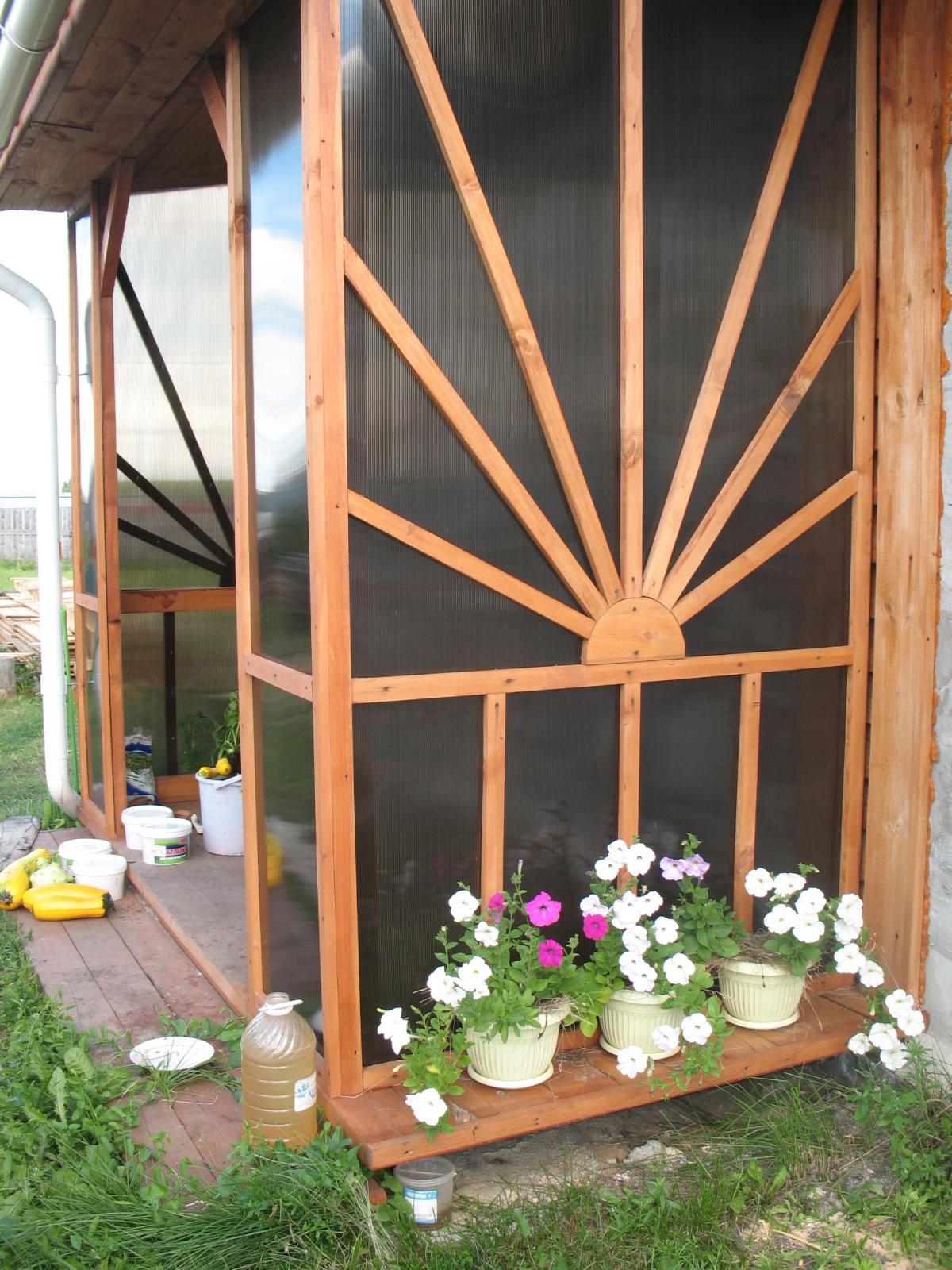 Крыльцо для частного дома своими руками из поликарбоната 57