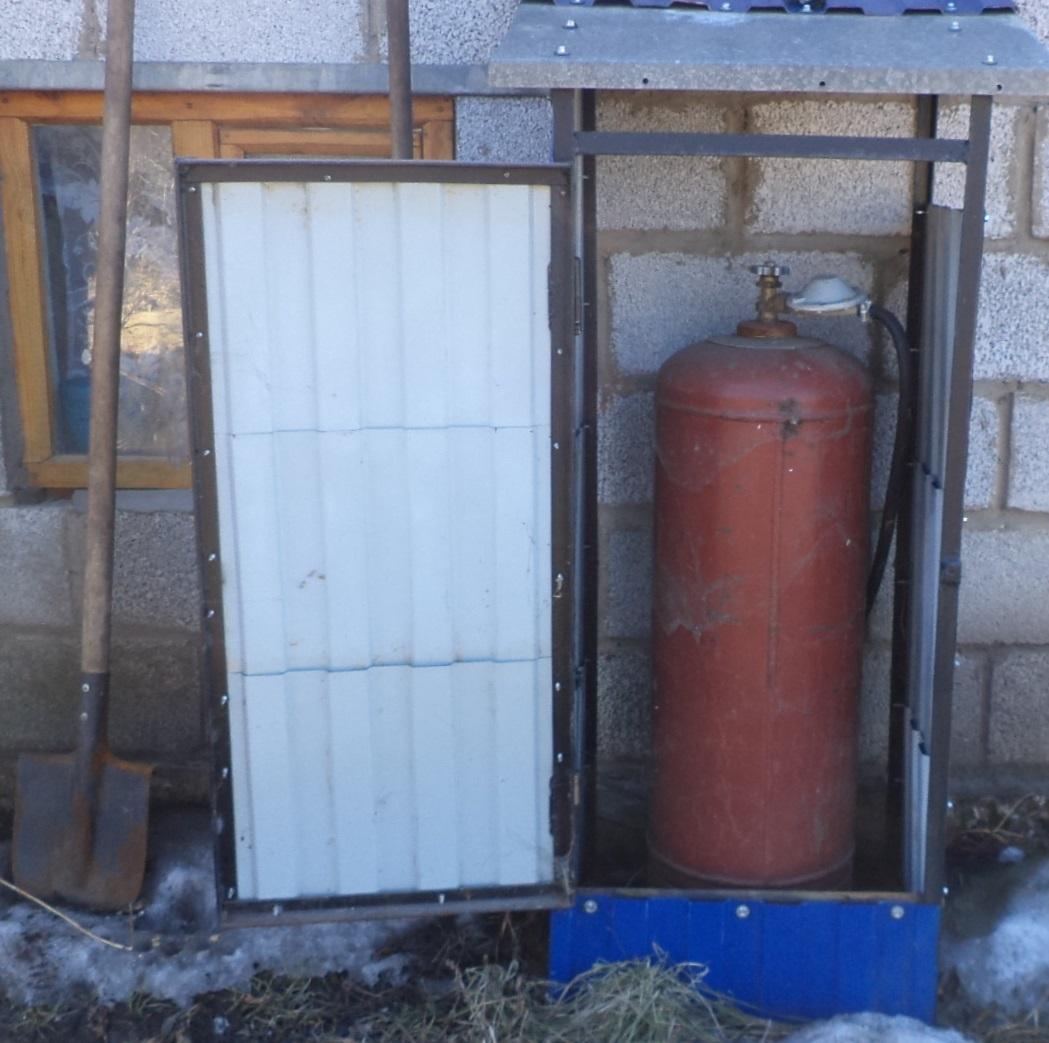 Деревянный ящик для газового баллона 193