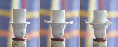Ремонт крепления плафона настольной лампы для дома для