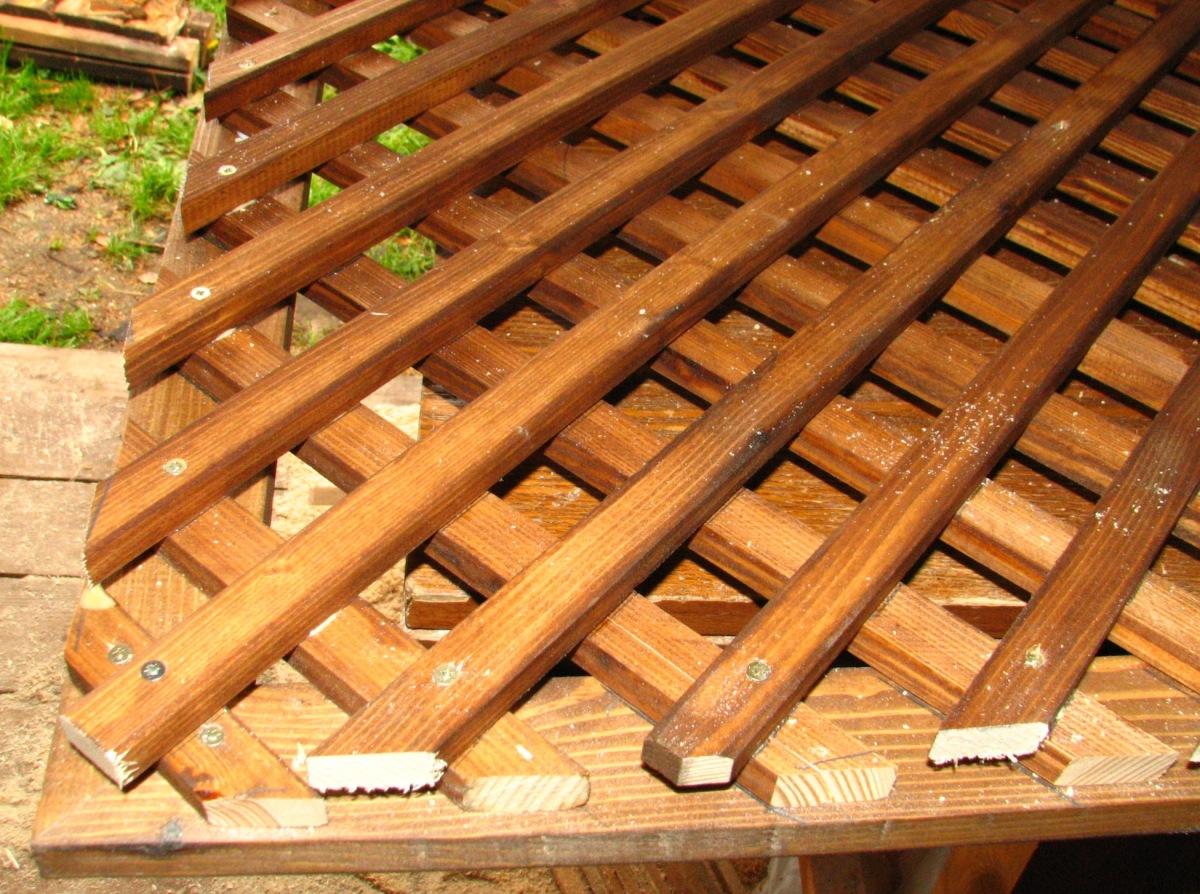Как сделать деревянные решетки на веранду