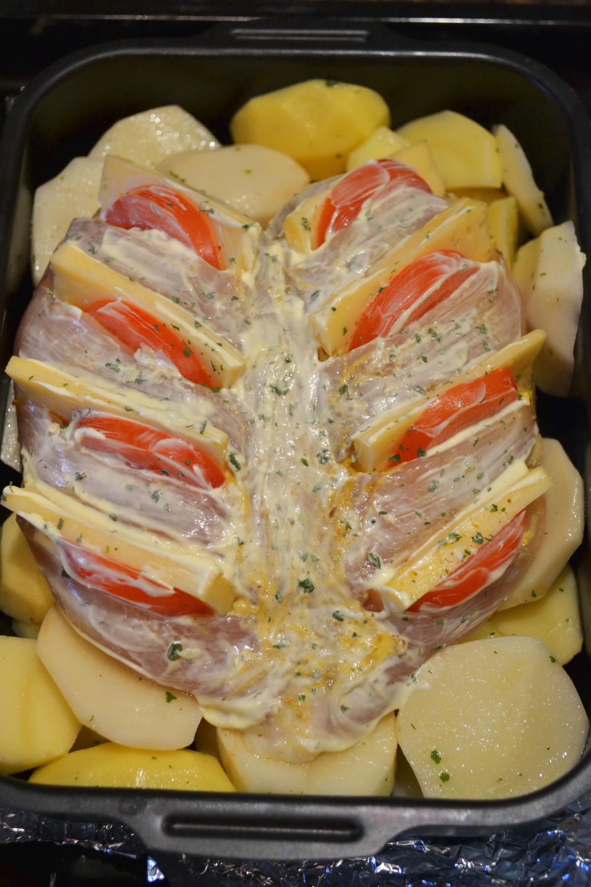 Куриная грудка гармошка в духовке рецепт пошагово с
