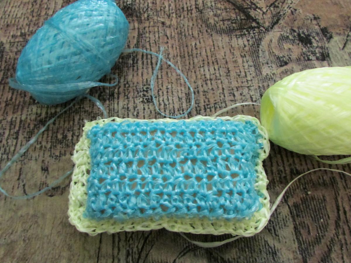 Вязание мочалки легкий способ