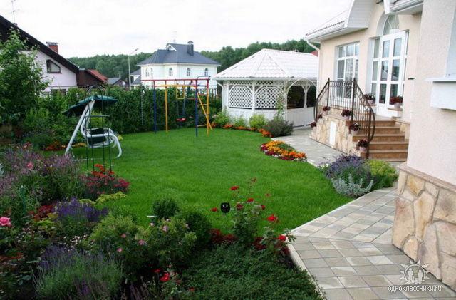 Дизайн двора своими руками частного дома в деревне