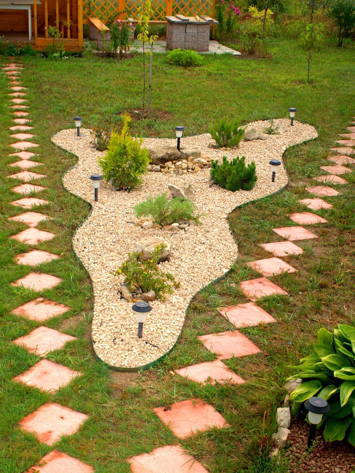Дорожки на даче и садовые дорожки 14