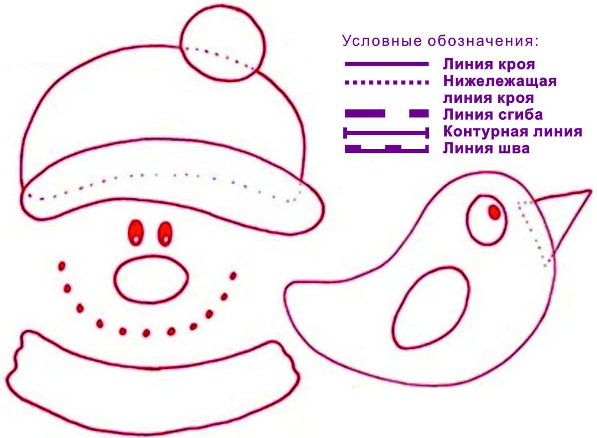 шаблон снеговик.