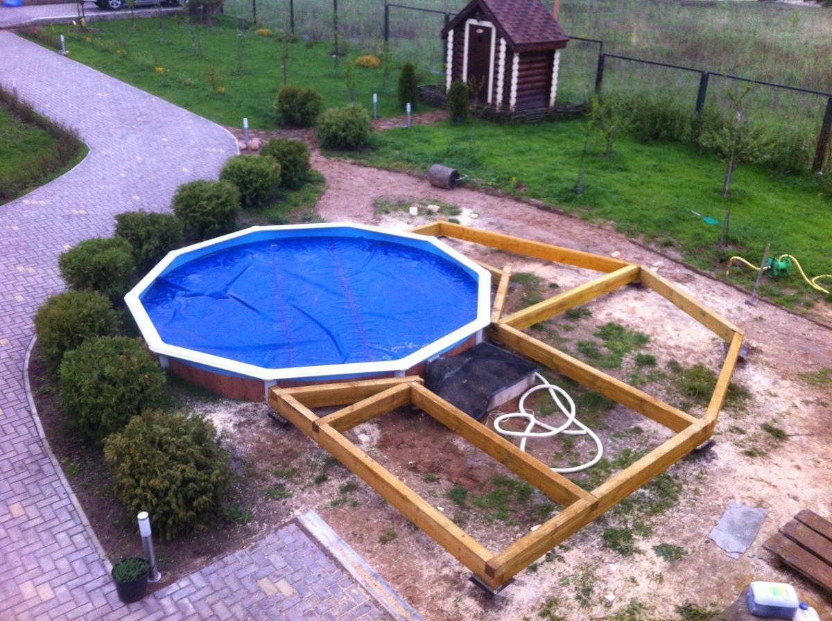 Как своими руками сделать площадку под бассейн 14