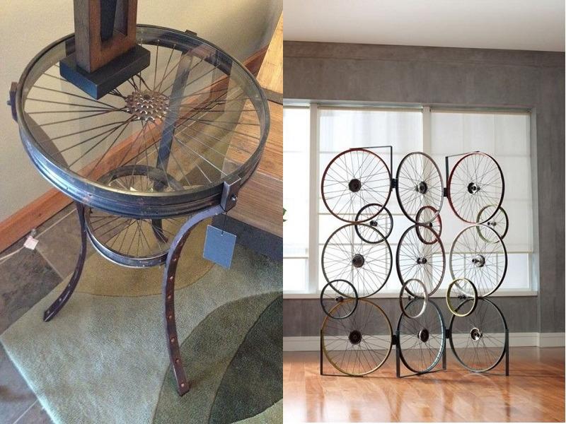 Поделки из велосипедных колес фото 37