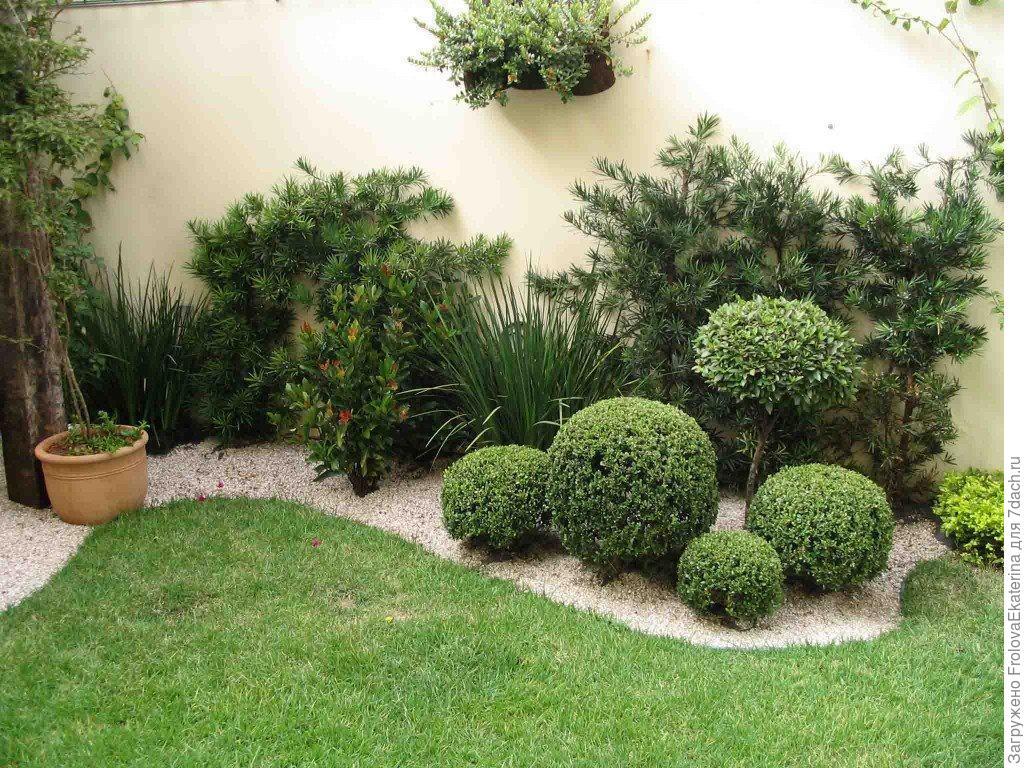 Переход от симметрии к асимметрии в саду