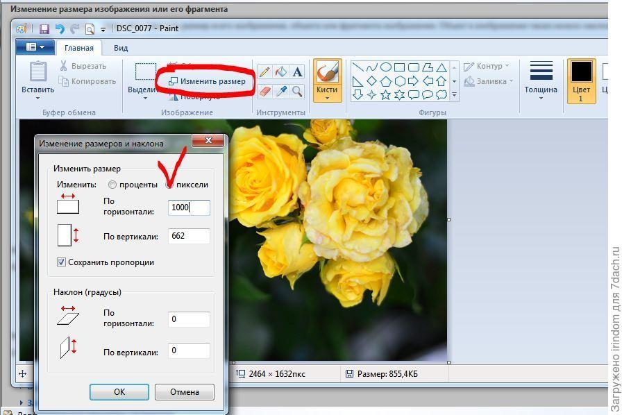 уменьшить размер фото программа с кисточками