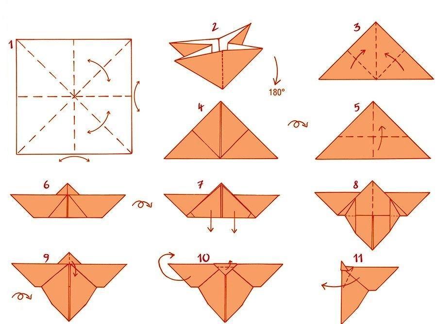 Оригами схемамбабочки